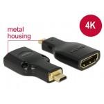Adapter HDMI (F) -> micro HDMI (M) 4K Delock