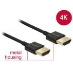 Delock HDMI-HDMI High Speed Ethernet 4K 3D 1.5m