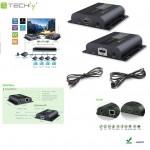 Extender HDMI HDbitT Techly po skrętce Cat. 6/6a/7, do 120m, FullHD z IR, czarny