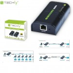 Extender / odbiornik HDMI Techly po skrętce Cat. 5e/6/6a/7 do 120m, over IP, czarny