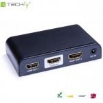 Rozdzielacz - splitter Techly HDMI 1/2 Ultra HD, 3D, czarny