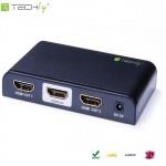 Rozdzielacz - Splitter Techly AV HDMI 2.0 1/2 Ultra HD 4Kx2K 3D
