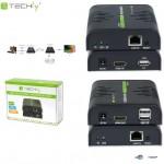 Extender HDMI + USB Techly po skrętce Cat.5/5e/6 120m