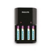 ŁADOWARKA akumulatorów typu AA i AAA, 4 pozycje, w zestwie baterie typu AAA 800mAh (4 szt.) / PHILIP