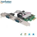 Kontroler/Karta Manhattan PCI-Express Portu szeregowego 2x RS232/COM  ICC X-PCI-2SER2