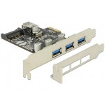 Delock PCIe 3x USB 3.0+ 1x Internal USB