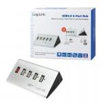 Hub USB LogiLink UA0224 5 portów USB2.0, biurkowy, aktywny