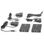Digitus HDMI do 50m Cat.6/7 UTP, 1080p 60Hz FHD, HDCP 1.2, IR, audio(zestaw)