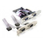 Delock PCIe 4x RS-232/COM 9-pin