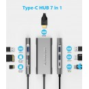 HUB ADT 701 USB-C 3.1 7W1