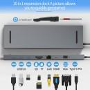 HUB ADT 1001 USB-C 3.1 10W1