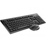 A4Tech V-TRACK Zestaw bezprzewodowy klawiatura + mysz 2.4G 7100N czarny