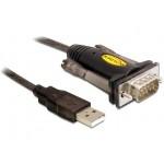 Delock USB-A 2.0(M)-> RS-232/COM/DB9 (M)