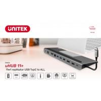 Unitek D1022A - 11w1 replikator USB TypC to ALL
