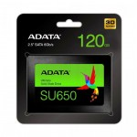 ADATA Ultimate SU650 120GB 2,5'' SATA3 (520/320 MB/s) 7mm, 3D NAND / Black Retail