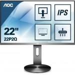 AOC 21,5'' 22P2Q VGA DVI HDMI 2xDP 4xUSB 3.1 głośniki