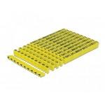 Delock - znacznik żółty litery A-Z 260 sztuk