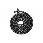 DIGITUS organizer do okablowania (spirala) regulowana elastyczna 5m czarna