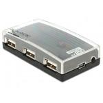 Delock 4x USB 2.0 aktywny + zasilacz