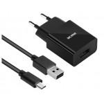 Acme CH211 1 port USB, 2,4A (12W), szybka + kabel MicroUSB