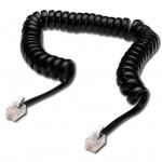 DIGITUS spiralny do słuchawek telefonicznych RJ10/RJ10 M/M czarny 4m